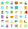 Internet marketing icons set cartoon style vector image