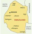 Kingdom of Swaziland - map vector image vector image