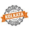 kolkata round ribbon seal vector image vector image