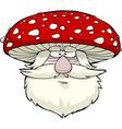mushroom head vector image