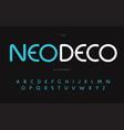 nouveau deco alphabet neo deco elegance font vector image