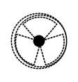 Nuclear danger symbol cartoon