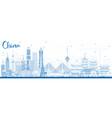 outline china city skyline famous landmarks