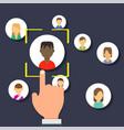 outsource management development business vector image