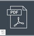 pdf icon vector image