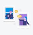 people talking dialog bubble speechchat messages vector image vector image