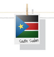 photo of south sudan flag vector image vector image