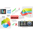 realistic colorful infographic concept vector image