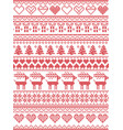 scandinavian nordic xmas winter pattern vector image