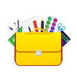 school children bag with accessories for study vector image