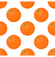 seamless background of oranges on a white vector image vector image