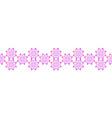 seamless textile floral border geometric vector image