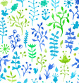 Seamless watercolor nature pattern vector image vector image