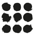 set black grunge circles vector image