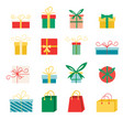 set icons in flat style for christmas vector image vector image