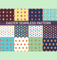 set of 12 seamless patterns with easter eggs vector image vector image