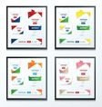set of Label Ribbon Origami Style vector image