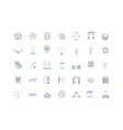 set simple icons usa vector image vector image