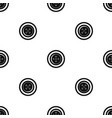 sewing button with a thread pattern seamless black vector image vector image