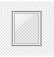 silver picture or photo frame isolated on vector image vector image