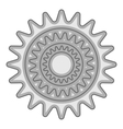 Sprocket for bicycle icon gray monochrome style vector image vector image