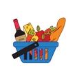 Supermarket shopping basket vector image vector image