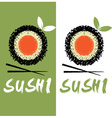 sushi design template vector image vector image