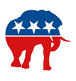 symbol for the republican party in the us vector image