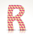 The letter R of the alphabet made of Raspberries vector image