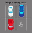 top view city car parking vector image