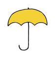 umbrella hand drawn outline doodle icon vector image vector image