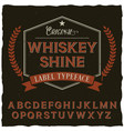 whiskey shine font poster vector image vector image