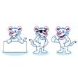 White Tiger Mascot happy vector image vector image