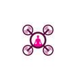 yoga drone logo icon design vector image vector image
