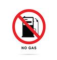no gas sign with gasoline pump vector image