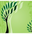 Card with stylized tree on grunge background cute vector image