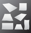 blank paper template in different sizes vector image