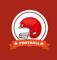 american football helmet sport game emblem vector image