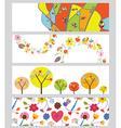 Autumn horizontal banners set vector image vector image