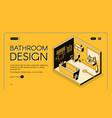 bathroom design isometric web banner vector image vector image