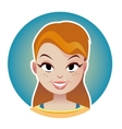 Beauty smiling woman face in circle vector image