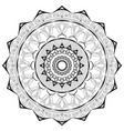 black lace mandala on a white background vector image vector image