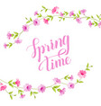 blossom spring card vector image