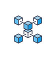 blue blockchain crypto icon cryptocurrency vector image vector image