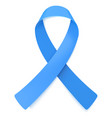 blue ribbon symbol awareness month vector image vector image