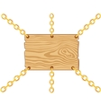 Board on chain from gild vector image vector image