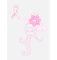 Breast cancer awareness concept Woman vector image vector image