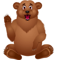 Brown bear cartoon vector image vector image