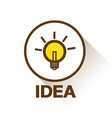 BULB ICON WITH IDEA CONCEPT vector image