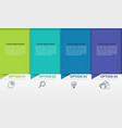 business infographics with 4 colorful steps or vector image